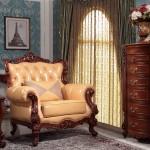 单人沙发/长茶几/圆弧斗柜